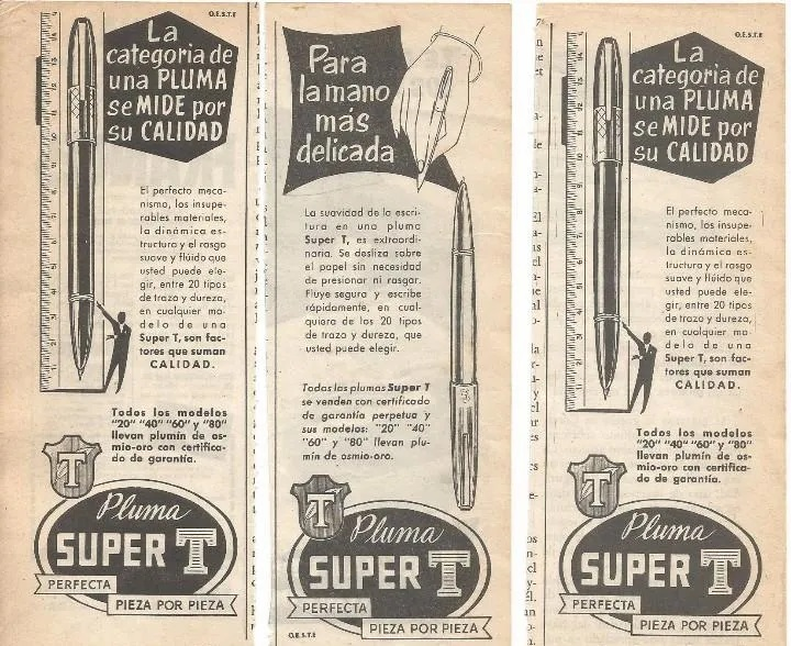 Anuncio Super T Gester, modelos