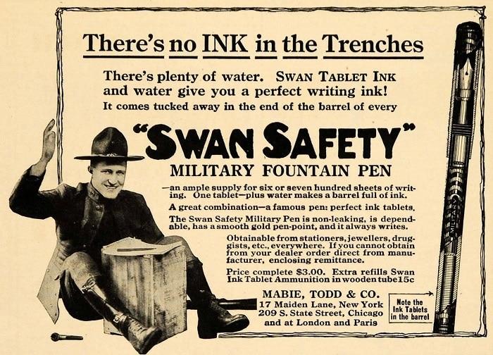 Anuncio Swan en 1918