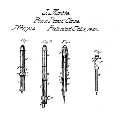 Patente J. Mabie Pencil Case