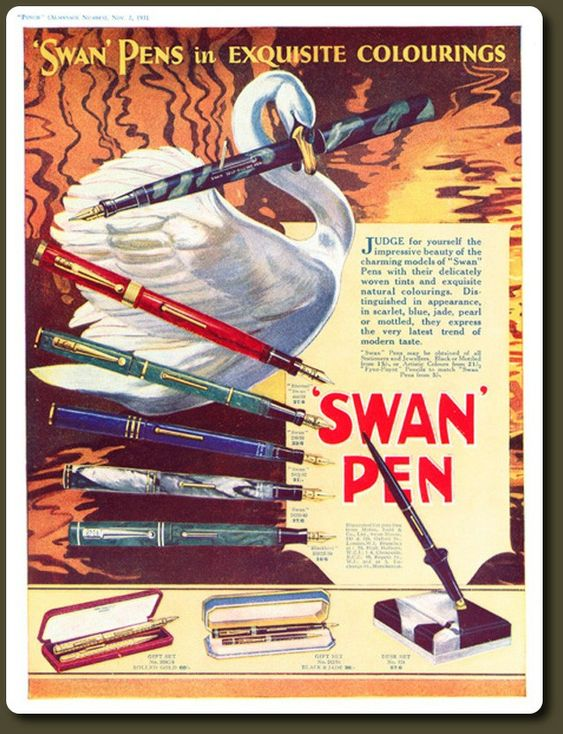 Pluma Swan de colores