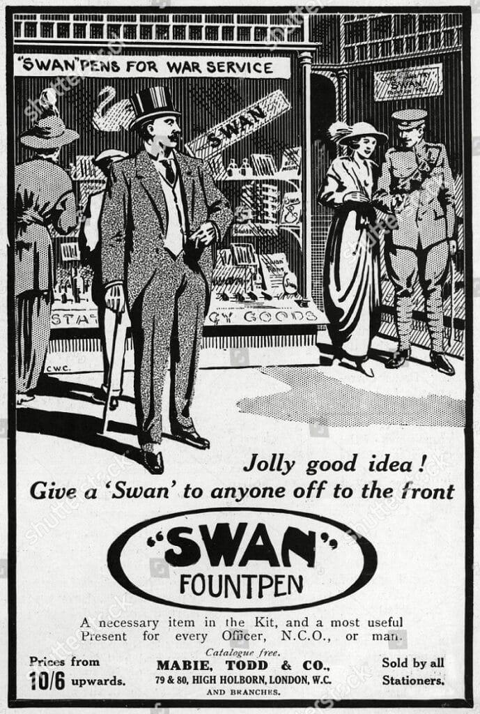 Swan Anuncio Primera Guerra Mundial
