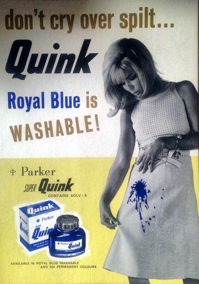 Anuncio tinta Quink de Parker